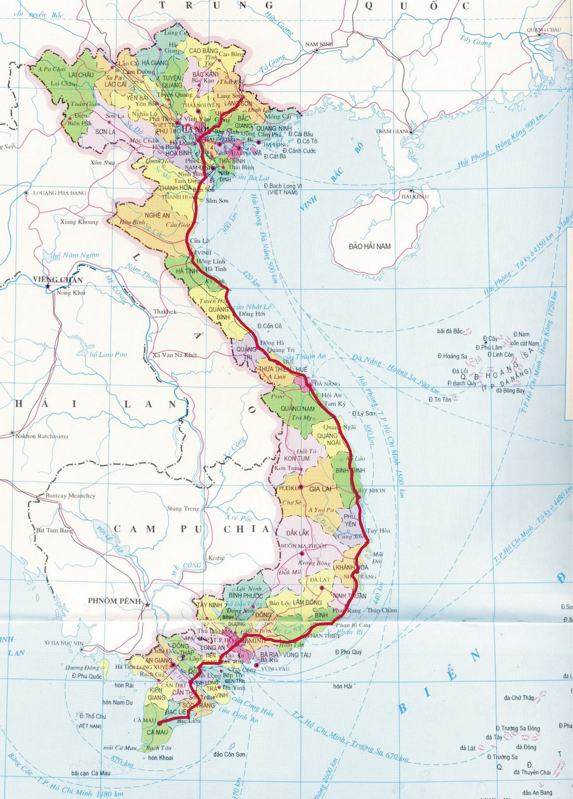 Mien Tay Vietnam Map.Road Trip Specialties Of North And North Central Vietnam Dac San