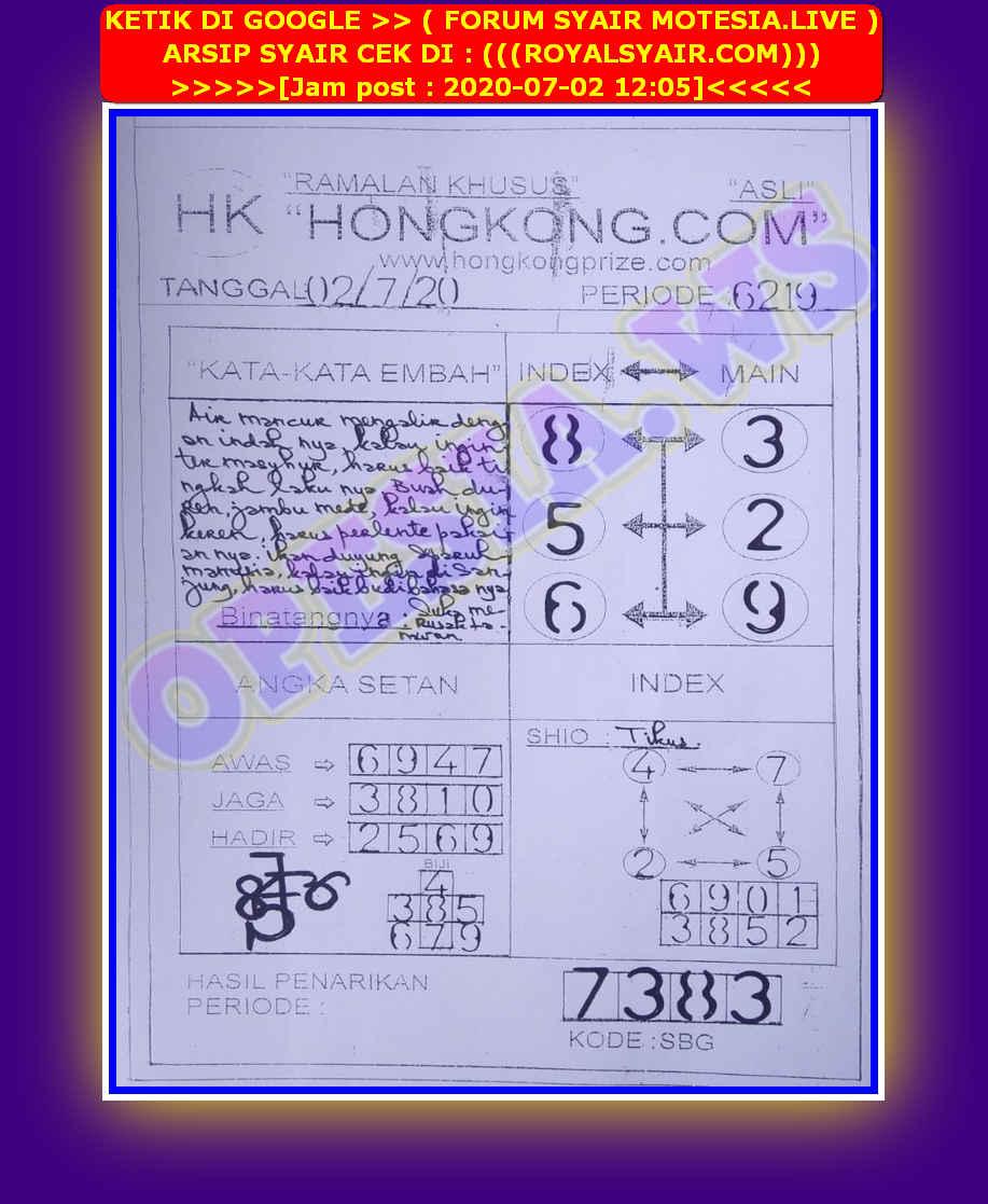 Kode syair Hongkong Kamis 2 Juli 2020 45