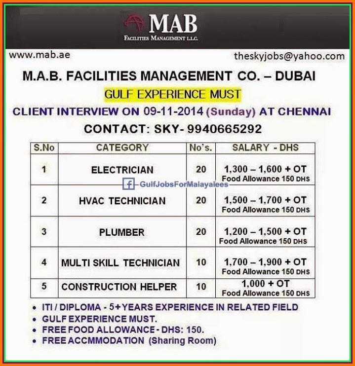 Facility Management Jobs In Dubai