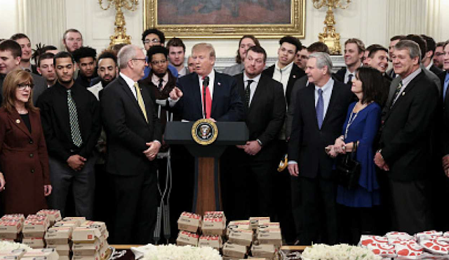 LGBTQ Activists Enraged Trump Served Chick-Fil-A To Football Champions