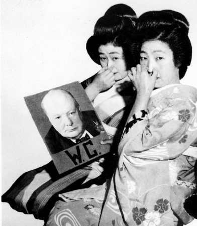 Japanese Geishas Winston Churchill worldwartwo.filminspector.com