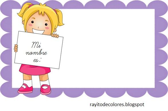Rayito De Colores Distintivos Para Nombres Para Imprimir