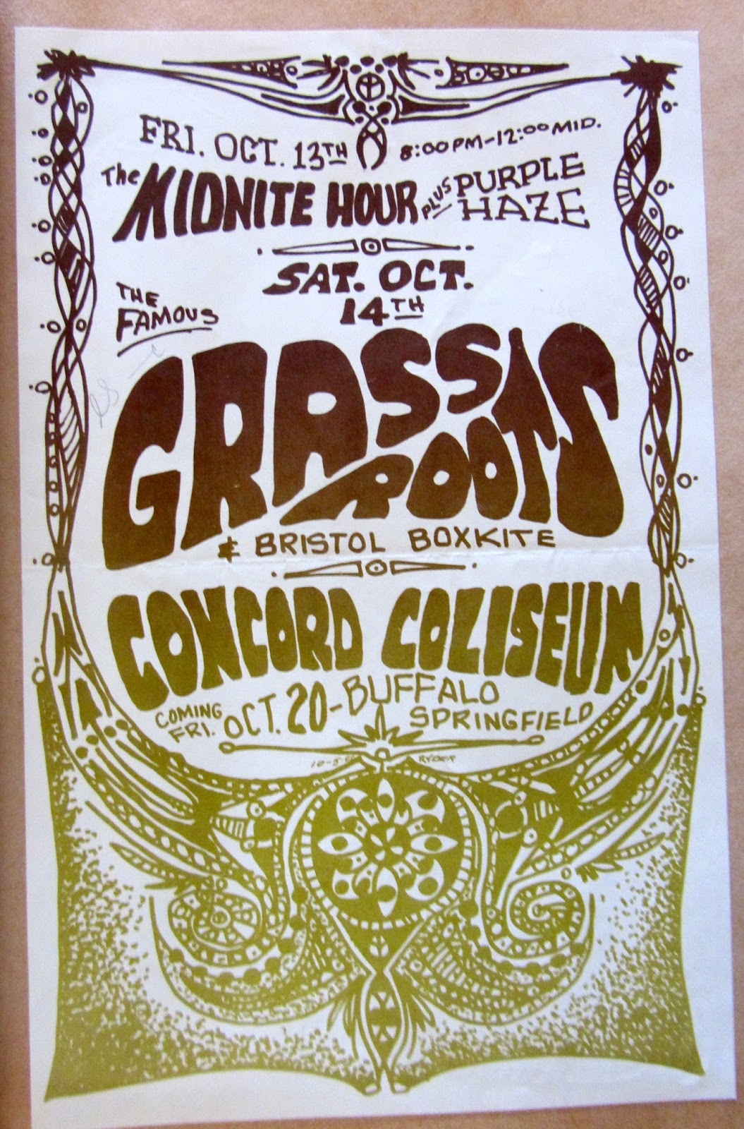 Rock Prosopography 101 1825 Salvio Street Concord Ca Concord Coliseum Performances 1967 68