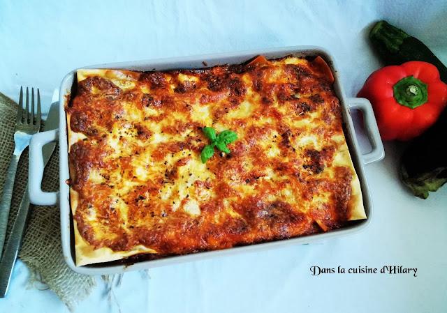 Lasagnes aux légumes du soleil et veau - Dans la cuisine d'Hilary