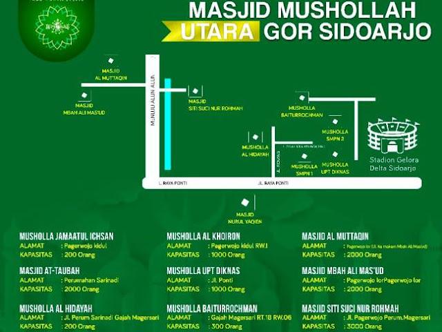 Masjid dan Mushalla Sekitar Gelora Delta Siap Tampung Peserta Istighotsah