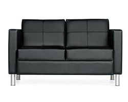 Leather Waiting Room Sofa