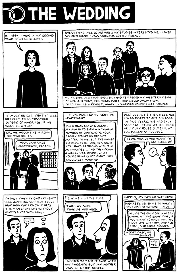 Read Chapter 17 - The Wedding, page 158, from Marjane Satrapi's Persepolis 2 - The Story of a Return