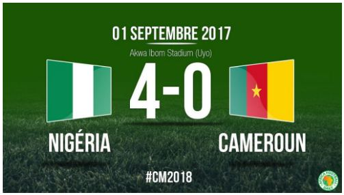 Video: Nigeria 4 – 0 Cameroon [2018 World Cup Qualifier] Highlights 2017