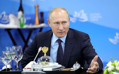 Russian President Vladimir Putin at the meeting with representatives of foreign business community.