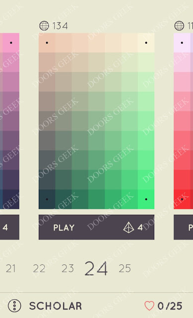 I Love Hue Scholar Level 24 Solution, Cheats, Walkthrough