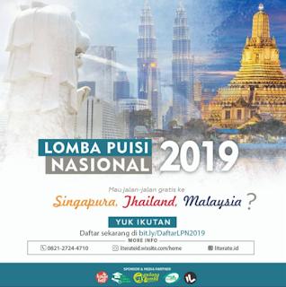 Lomba Puisi Nasional Nasional 2019, Hadiah Ke Luar Negri