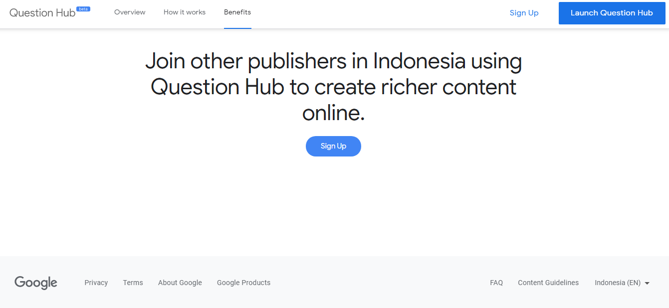Grow Your Traffic Blog With Question Hub by Google