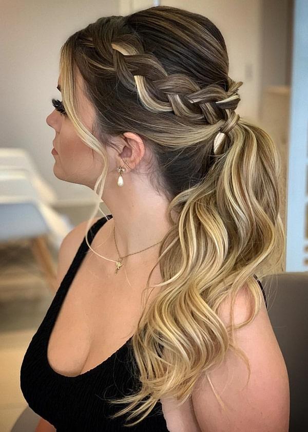 ponytail penteado de festa  rabo de cavalo