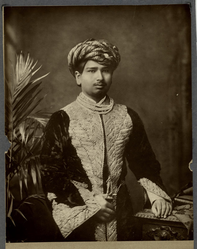 Vintage Studio Portrait of the Thakore of Wadhwan