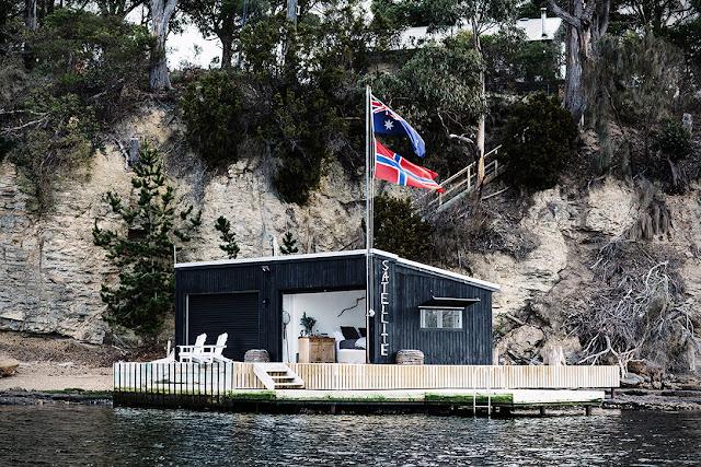 La casa en el lago en australia