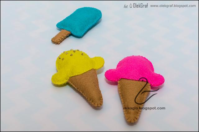 456. Lody, lody dla ochłody … z filcu / Felt ice cream