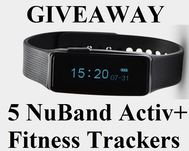 GIVEAWAY : 5 NuBand Activ+ Fitness Trackers Worth $350