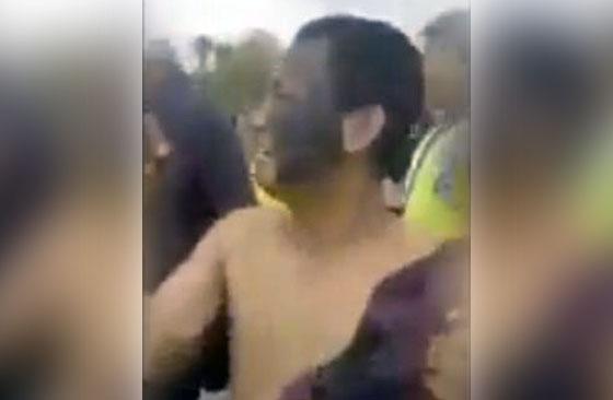 Video: Preman Bertato Tukang Palak Nangis Saat Ditangkap Polisi