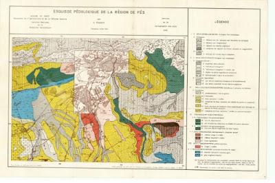 Esquisse pédologique de la région de Fès   الخريطة الترابية لفاس
