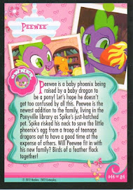 My Little Pony Peewee Series 1 Trading Card