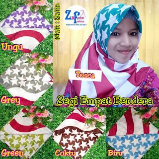 jilbab segi empat bendera bahan maxmara