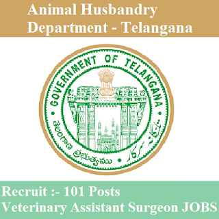 Animal Husbandry Department, Government of Telangana, Telangana, Animal Husbandry, Veterinary Assistant Surgeon, Graduation, freejobalert, Sarkari Naukri, Latest Jobs, TS Animal Husbandry, ts animal husbandry logo