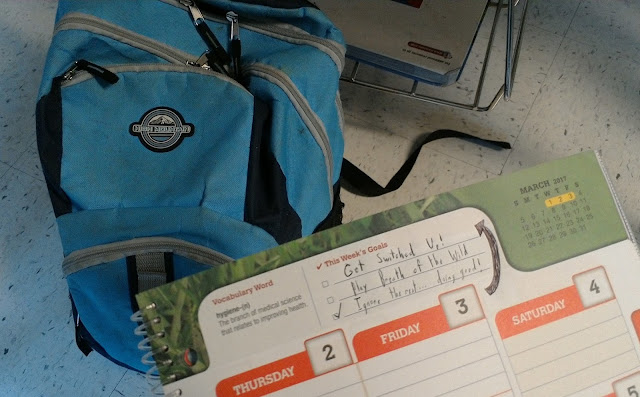 Student planner assignment notebook This Week's Goals Get Nintendo Switch