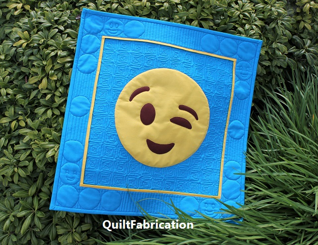 You Got This! Emoji quilt by QuiltFabrication from Sew Emoji