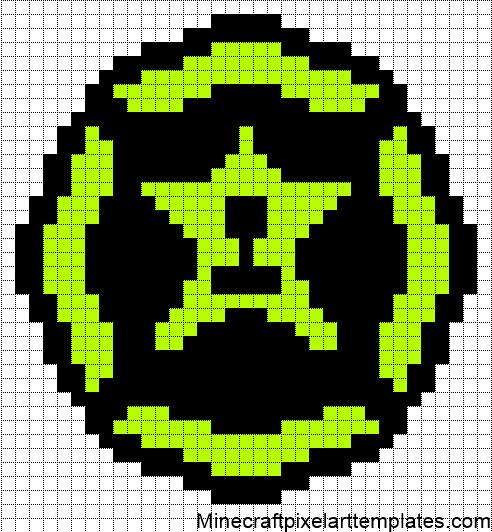 Minecraft Pixel Art Templates: Achievement Hunter Logo