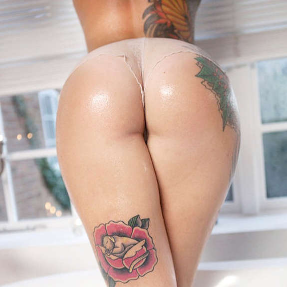 Sexy Under Butt Tattoos For Girls