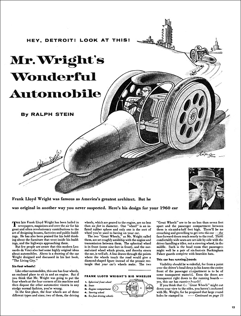 Jake's Car World: Frank Lloyd Wright Mercedes Benz 300SL
