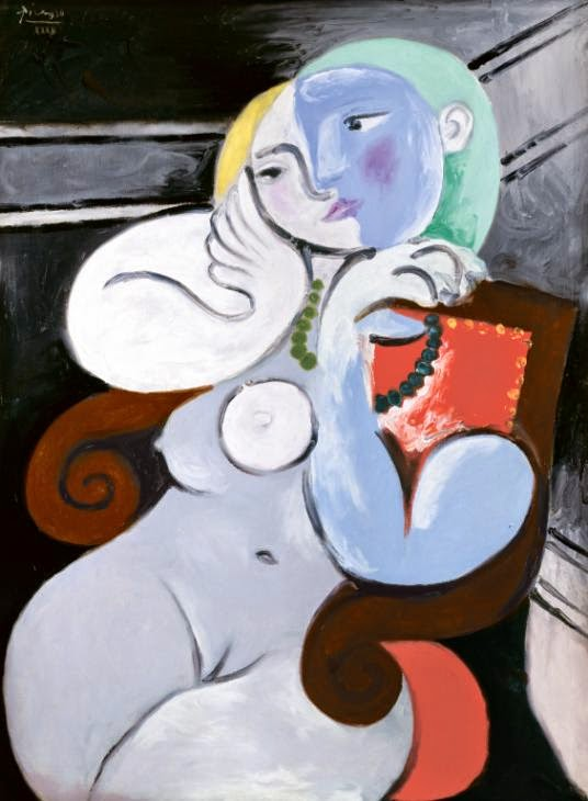 Mulher Nua em uma Poltrona Vermelha - Picasso e suas pinturas ~ O maior expoente da Arte Moderna