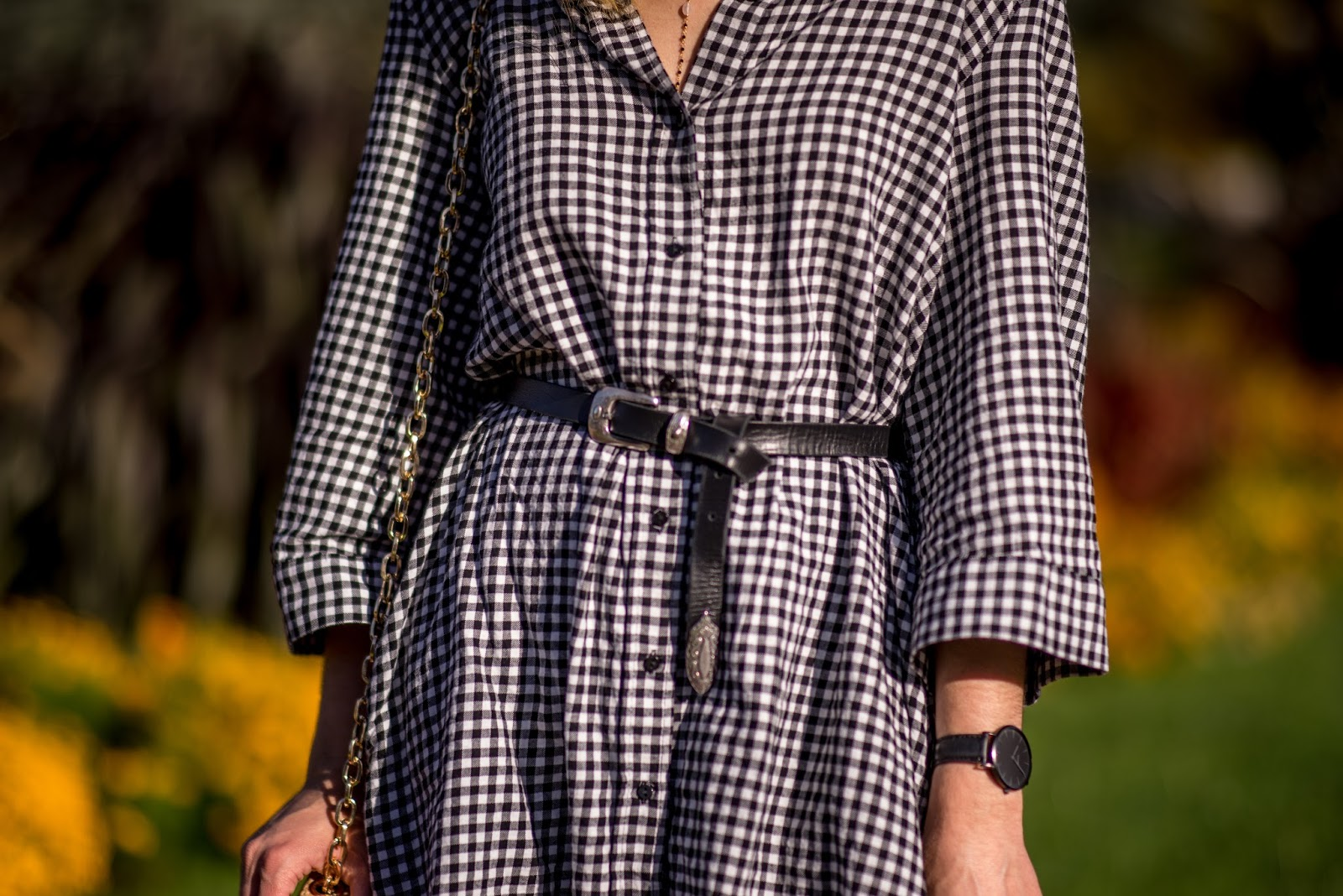look robe chemise carreaux