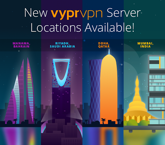 New VyprVPN Servers Available in the Middle East and India