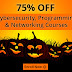 Halloween offer is Back with a Bang! Flat 75% OFF
