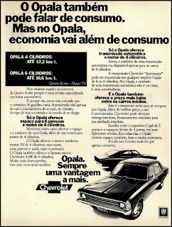 propaganda Chevrolet Opala - 1974, Opala 74, GM anos 70, Chevrolet década de 70, carros Chevrolet anos 70, Oswaldo Hernandez,
