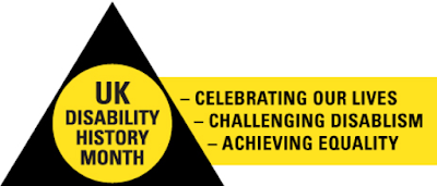 Logo of UK disability history month