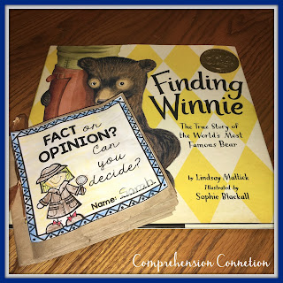 This mentor text lesson features 2016 Caldecott Award Winner, Finding Winnie to teach fact and opinion in a fun, hands-on way.