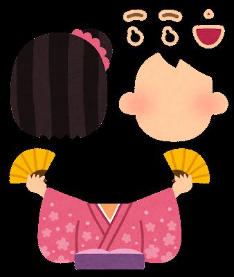 福笑いのイラスト(女性)