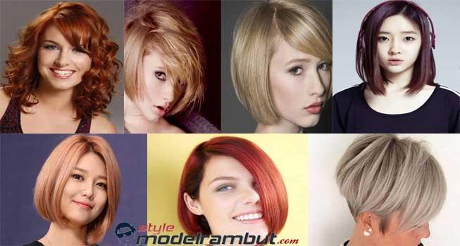 Model Rambut Bob Pendek Yang Bervolume