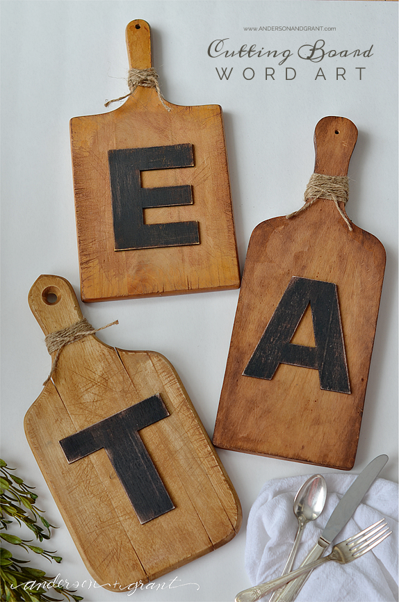 DIY Cutting Board Word Art | Easy Tutorial at www.andersonandgrant.com