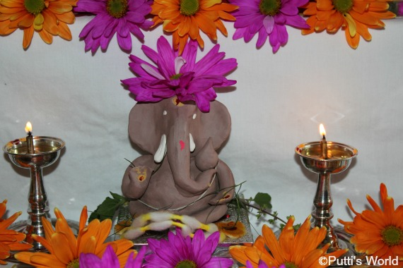 DIY Ganesha clay idol