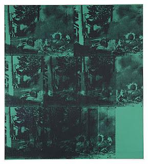 """Green Car Crash (Green Burning Car I), Andy Warhol"