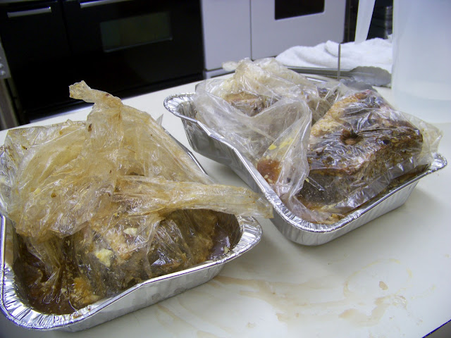 Pot roast in cooking bags