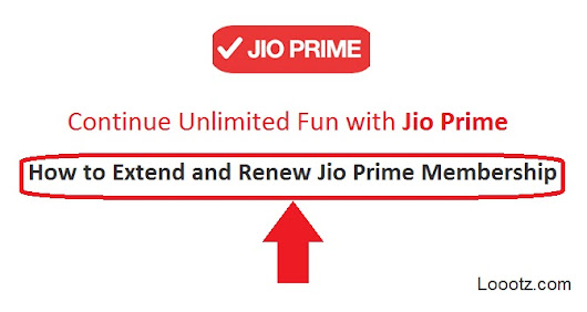 Jio Prime Membership - How to Extend and Renew Jio Prime Validity