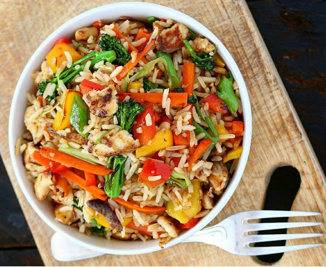 VEGETABLE FISH FRIED RICE
