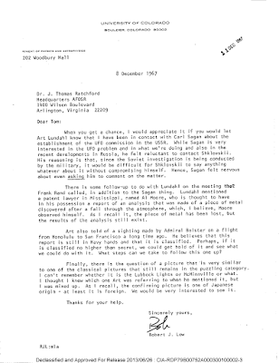 Low - Ratchford Letter 12-8-1967