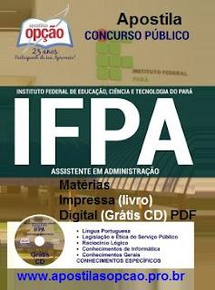 Apostila Concurso IFPA 2016 Grátis CD