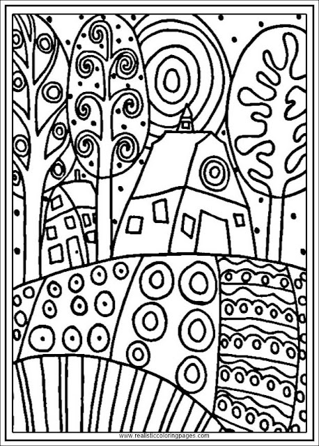 gustav klimt printable arts coloring pages for adults