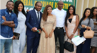 Ogbonna Kanu and Laura Ikeji at their registry wedding recently.